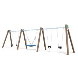 Large combination swing set from Moduplay's range of playground swings