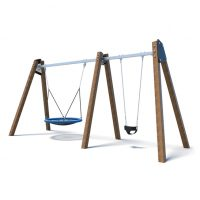 Toddler swing with nest swing set from Moduplay's range of playground swings