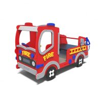 Playground fire truck from Moduplay's rage of themed playground equipment.n