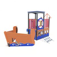 The boat play system from Moduplay's rage of themed playground equipment.