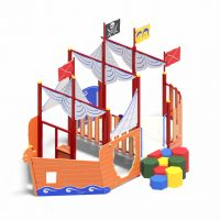 Ship play system from Moduplay's range of themed playground equipment.
