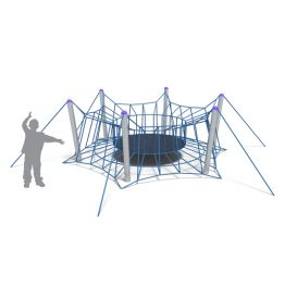 Nets with trampoline from Moduplay's range of rope playground equipment