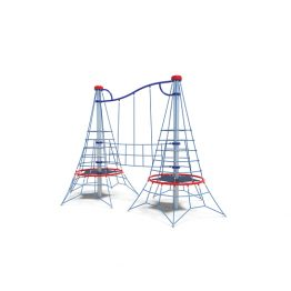 Double net pinnacles from Moduplay's range of rope playground equipment