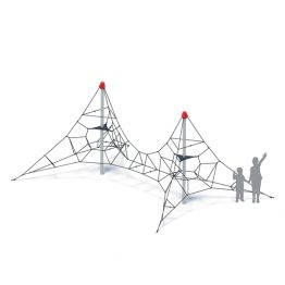 Dual rope climbing frame from Moduplay's range of rope playground equipment