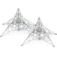 Twin spider web from Moduplay's range of rope playground equipment