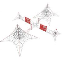 Four spider webs play system from Moduplay's range of rope playground equipment
