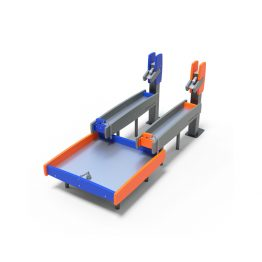 The dual channel and tray from Moduplay's sand and water play equipment range
