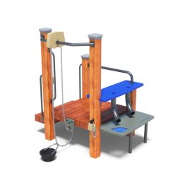 A sand work station from Moduplay's sand and water play equipment range