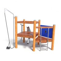 A tactile play unit from Moduplay's sand and water play equipment range
